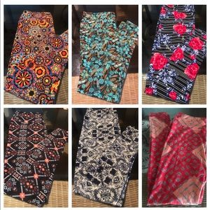 Bundle of 6 pairs of LuLaRoe TC Leggings